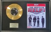 "THE BEATLES - 24 Carat Gold 7"" Disc & Song Sheet - HELP!"